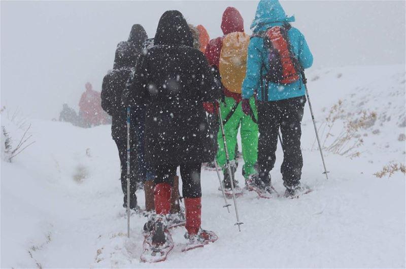 snowshoeing snowfall advanturetime advanture falougha meetlebanon ... (Falougha, Mont-Liban, Lebanon)