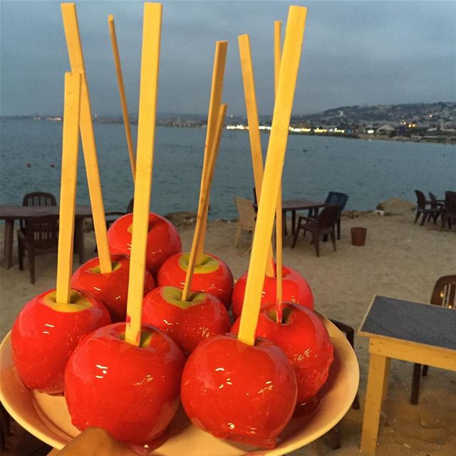 yummy sweet apple beach night authenticlebanon whatsuplebanon ...