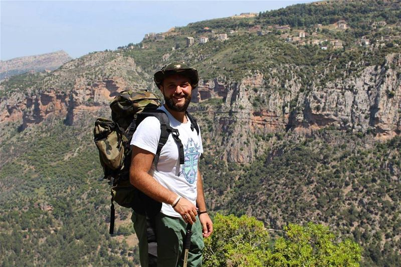 hiker birthday lebanese wadiannoubine smile livelovelebanon ... (Wadi Annoubin)