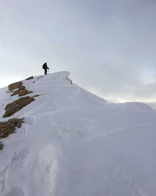 Once upon a cornice. ... snowcornice ledge crest wind windcornice ... (Mount Sannine)