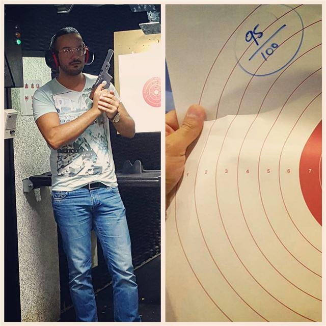 .... found a new hobby 😎 95/100 shooting . dubai Lebanon Beirut ... (Jebel Ali Shooting Club)