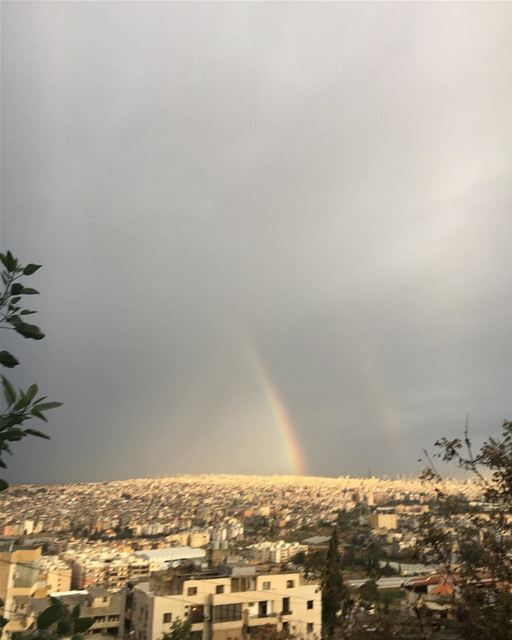 Stay strong there's always a Rainbow after every storm 🌈 .. rainbow ... (Choueifat, Lebanon)