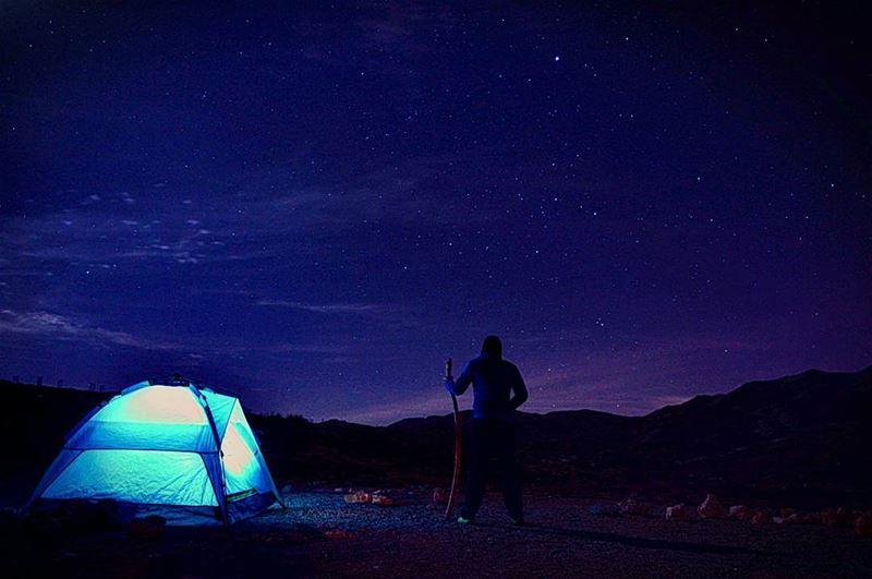 night nightphoto nightphotography stars startrails milkyway galaxy... (3youn El Simen)