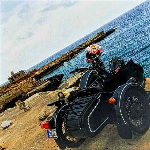tb monday cruise to batroun sharkhelmet sidecar ural beach summer 2k15...