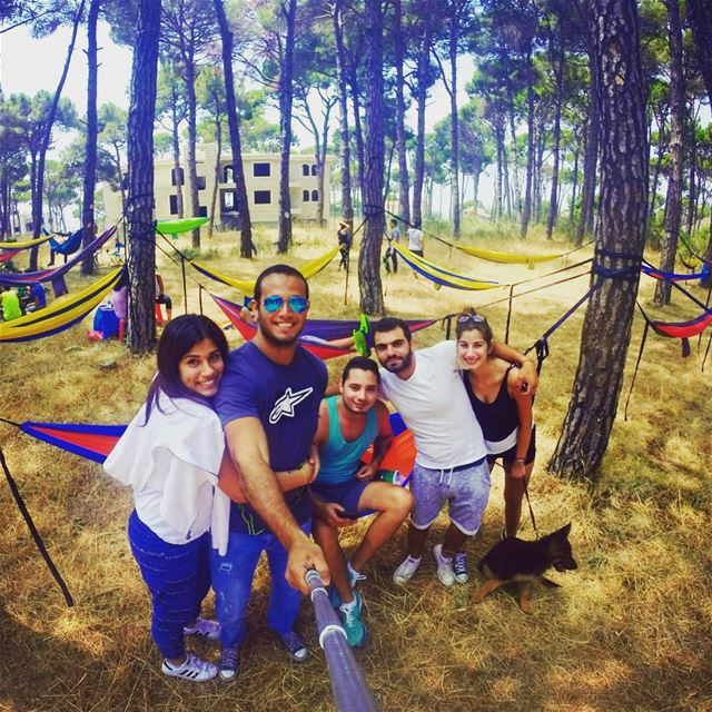sunday chilling friends hammock camping hiking nature gopro... (Karnayel)