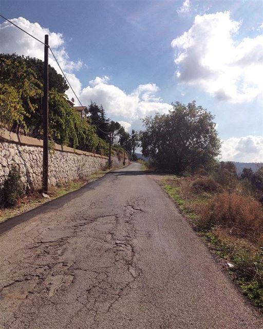 ... The road is longI'm quite awareBut I am strongAnd I don't care 😃😄... (Mount Lebanon)