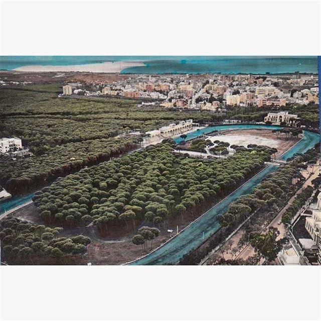 ميدان سباق الخيل في #بيروت عام ١٩٦٧