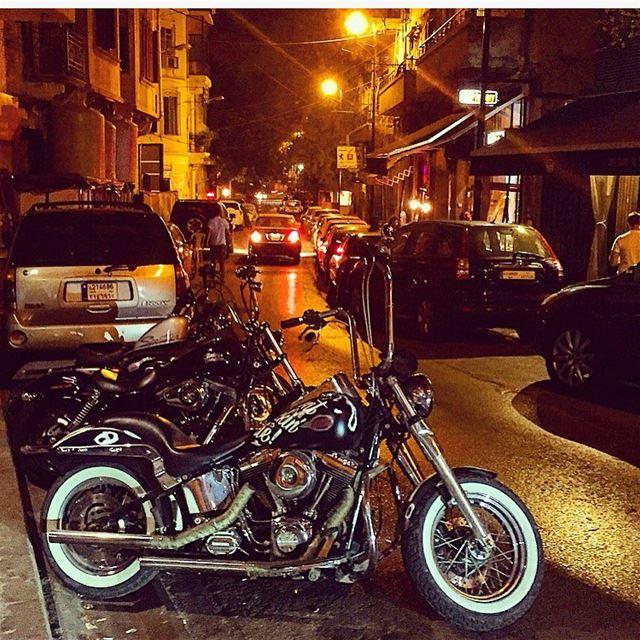 A bike never goes out of style;) motorcycle street beirut lebanon ... (Mar Mkhayel)