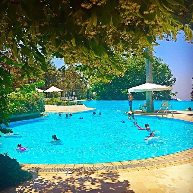 When you take monday off pool perfection pool mountains lebanon ... (Tilal Faqra)