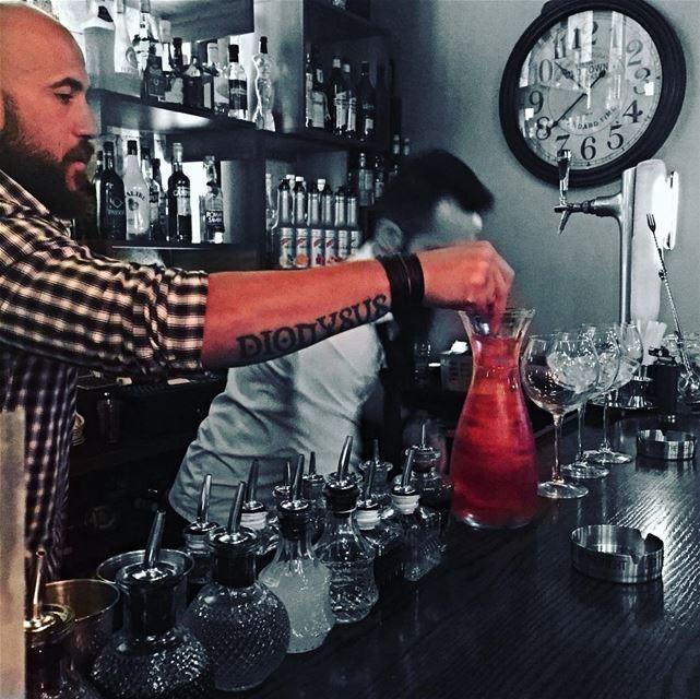 Dionysus: god of wine and apparently cocktails too;) lastnight bartender... (Eden - Badaro)