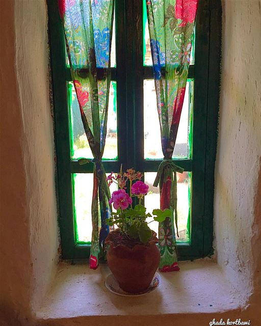 Some places are too enchanting to leave bekaa window tv_doorsandwindows... (Bekaa valley)