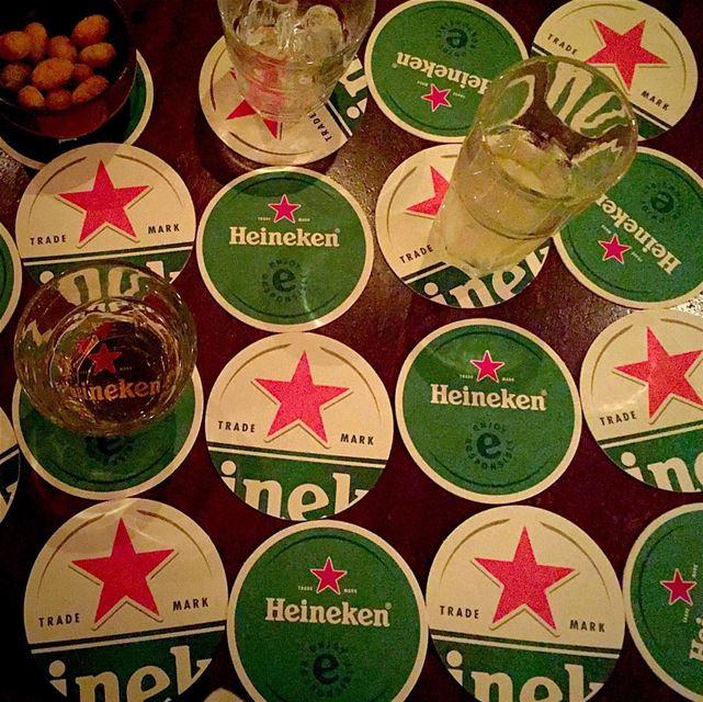 Drinking pattern atthebar heineken drinks stars lebanon ... (Hole in The Wall - Beirut)