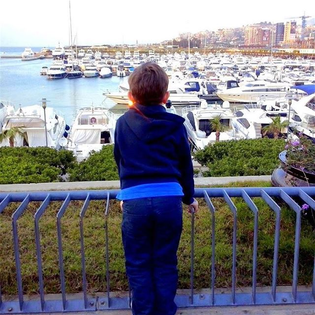 Standing at the dock of the bay...  boats  seaside  lookingforward  dbayeh... (La Marina Club Debaye)