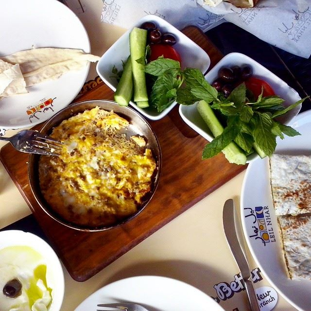 Start your day with a smile and a good breakfast:)  lebanesebreakfast ... (Leil nhar)