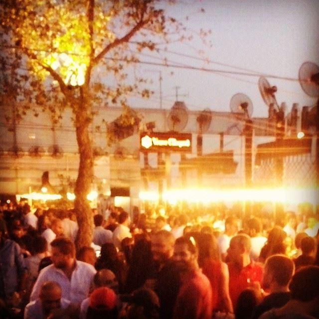 Sparkles in the sky sunset rooftop iris beirut... (Iris Beirut)