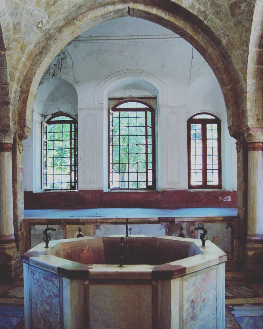 🌲🏰❤ lebanon alshouf turkish bathroom beiteddine roadtrip biking ...
