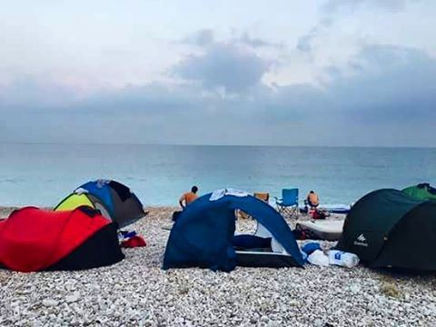 Summertimes with friends ... beach camping ❤🌲🌎 lebanon  batroun  beach ... (Al Batrun, Liban-Nord, Lebanon)