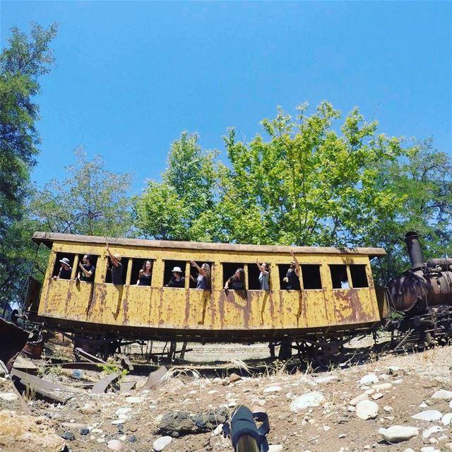 Feel like the old days🚂🌲🌎 lebanon_hdr reyak trainstation trains ...