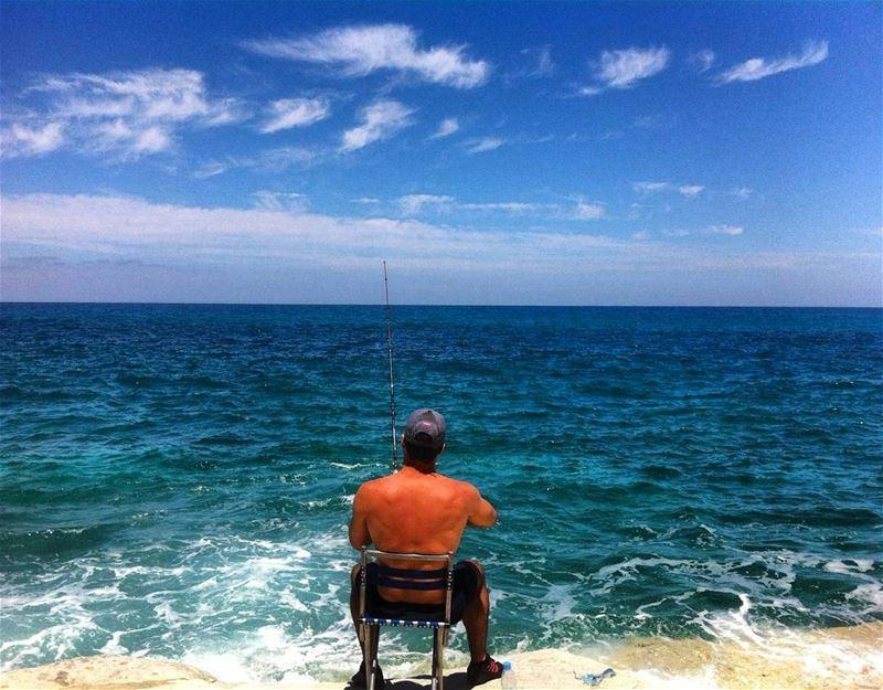 lebanon southernlebanon tyre fishing sea seaside seaadventure ... (Tyre, Lebanon)