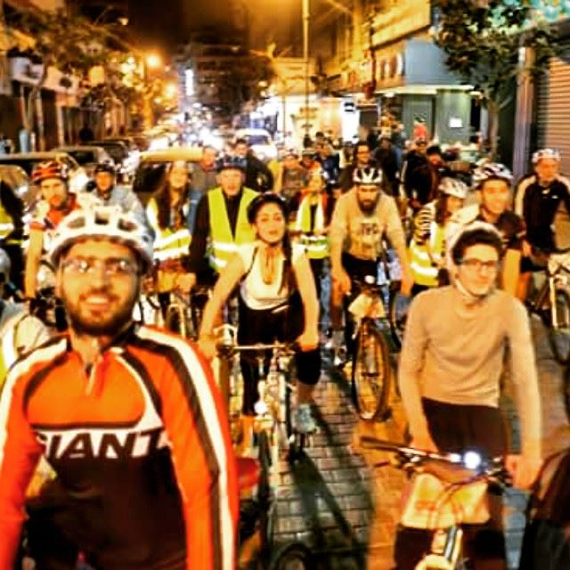 lastnight  ride  in  beirut  biking  mtb  mountainbikes  roadbikes  bikes... (Beirut, Lebanon)