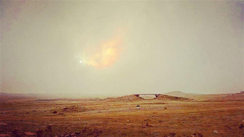 The desert sun. insta_lebanon live_lebanon desert cloudy love ... (Falougha, Mont-Liban, Lebanon)