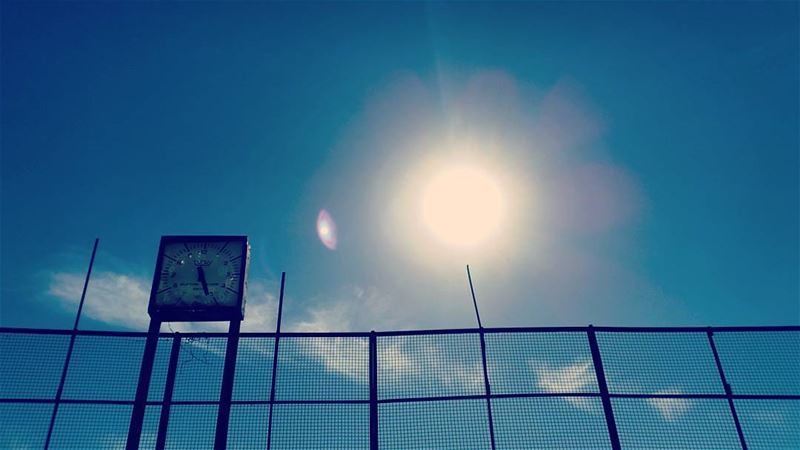 Let the clocks relapse. abandoned abandonedplaces bluesky blue sky ...