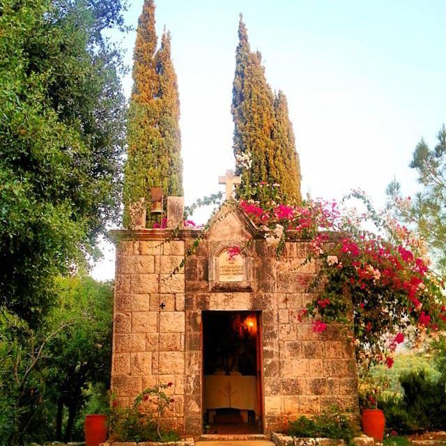 Peaceful church edde jbeil green trees flowers colors beautiful ...