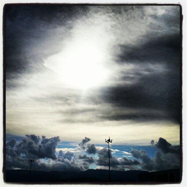 clouds cloudy autumn sky sun Beirut Lebanon beautiful view ...