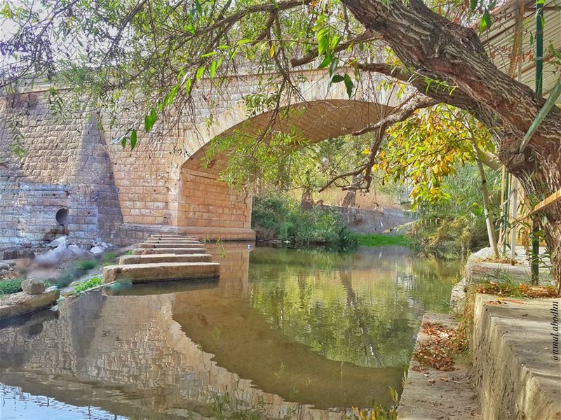 u will explore new possibilities if u cross where others don't 📷🌄🍃🌳 (Hasbani River- Hasbaya)