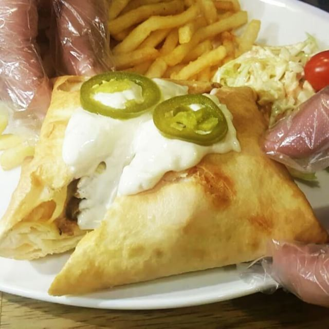 Nacho burger @mr.international.lb Sports Bar byblos-JbeilThis is a burger... (Mr. International Sports Bar)