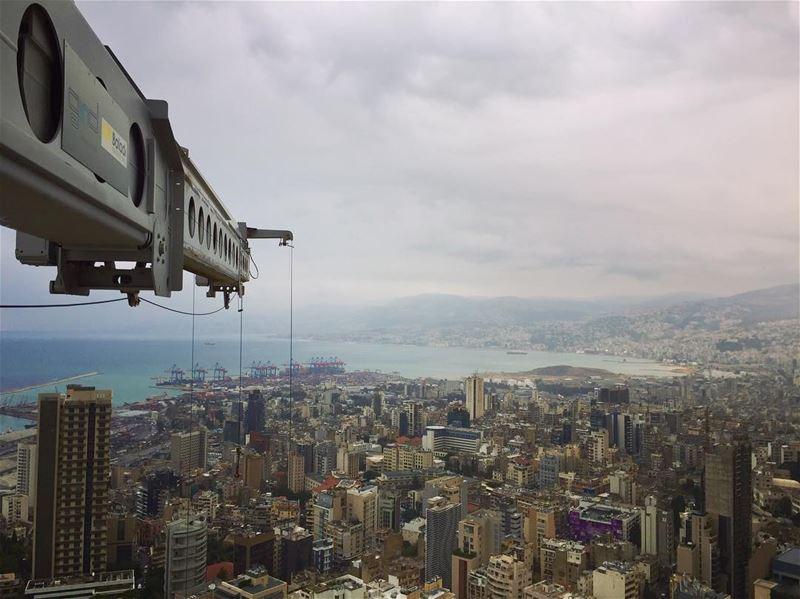From The highest point of Beirut...... livelovebeirut ... (Beirut, Lebanon)