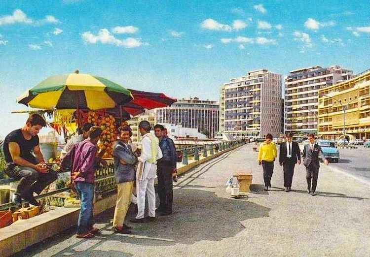 Beirut Raouche - 1969 بيروت الروشة