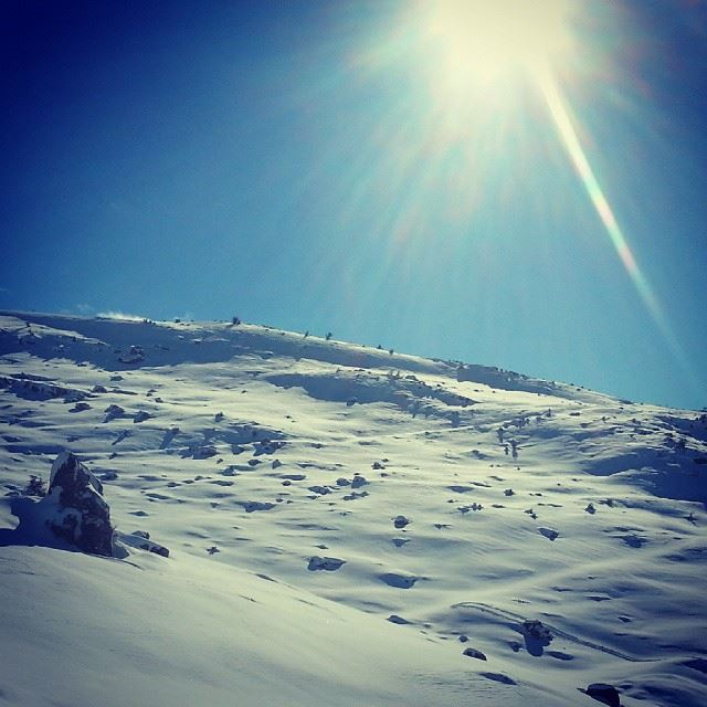 beautiful scene from hasbaya shebaa southlebanon snow storm yohan...