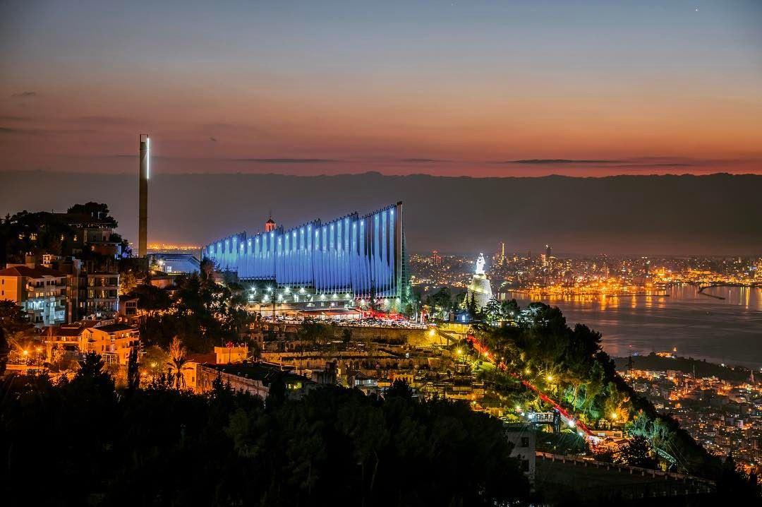 lebanon beirut harissa jounieh night ... (Harîssa, Mont ...