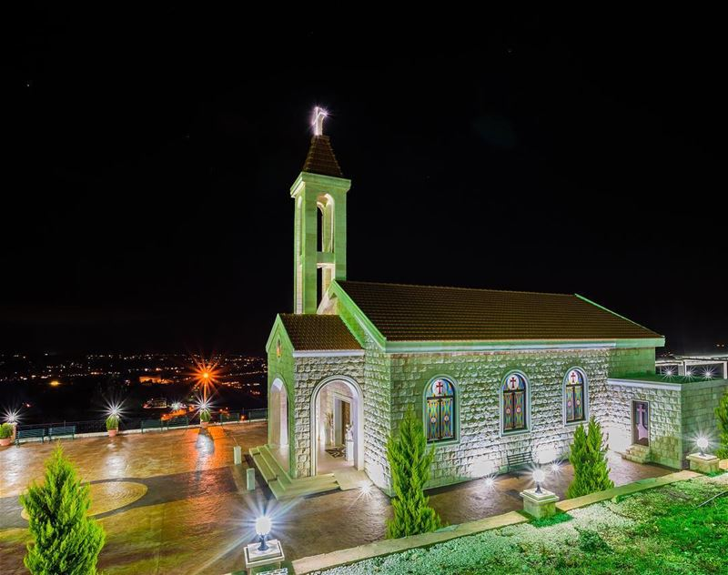 saintcharbel saintcharbelannaya church lebanon longexposure ... (Saint Charbel - Karem Saddeh)