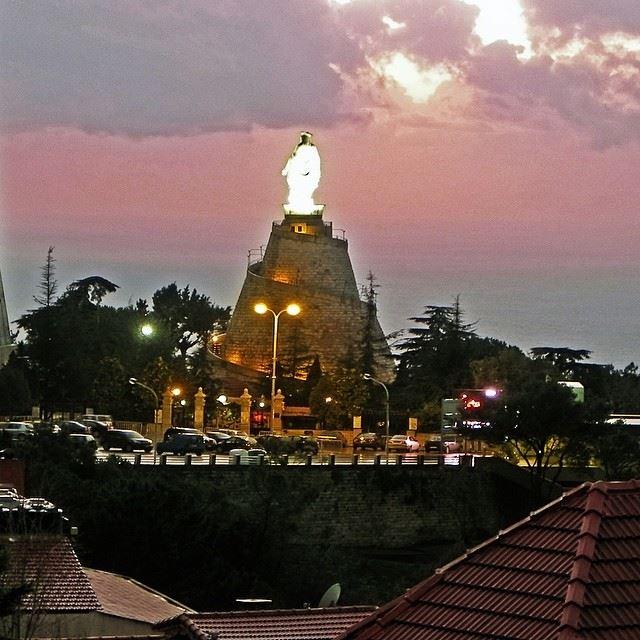 harissa church catholic cathedral jounieh lebanon ...