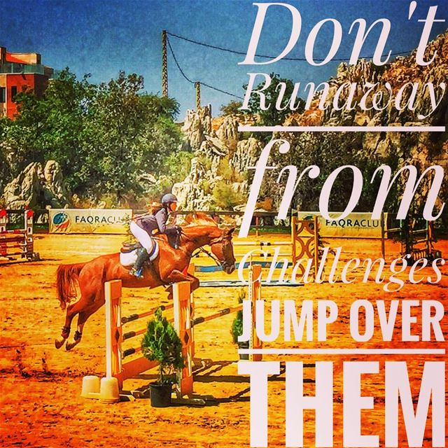 Don't Runaway from Challenges Jump Over Them 🏇😍 favoritesport ... (Faqra Club)