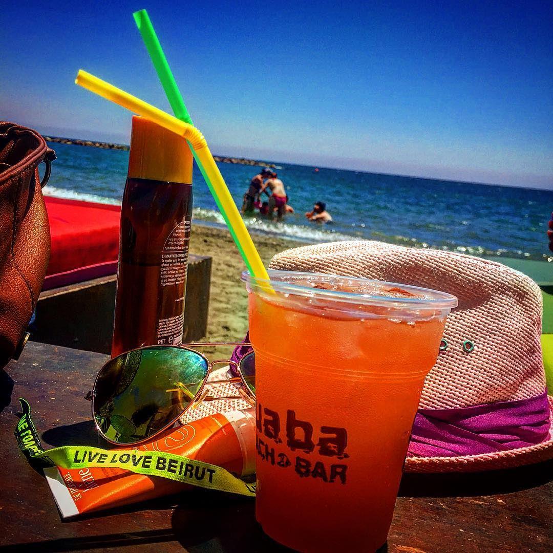 Beach party 😎🎉 summer escape traveltheworld cyprus cyprus2016 ... (Guaba Beach Bar)