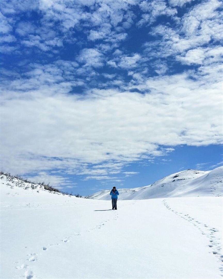 If you walk in the footprints of others, you won't make any of your own 👣� (Faraya Mzaar)