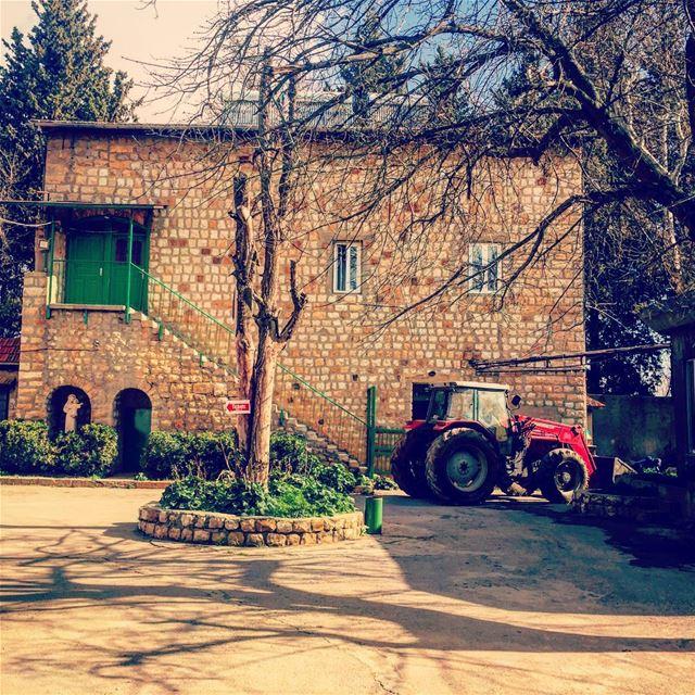 Life on the Farm 🚜🌳 livelovebeirut wearelebanon lebanon... (Jesuit Convent Deyr Taanayel - دير سيدة التعزية للآباء اليسوعيين)