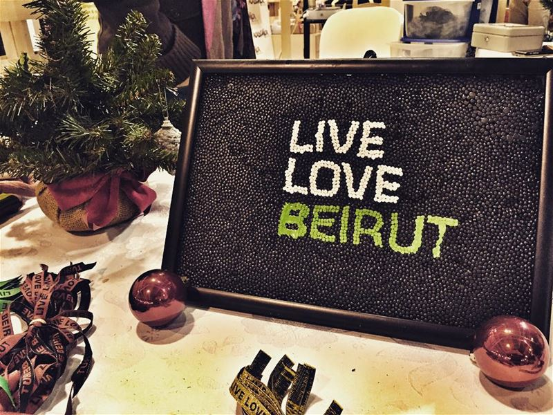 Live Love Beirut in Christmas 🎄 livelovechristmas livelovebeirut ... (Trainstation Mar Mikhaël)
