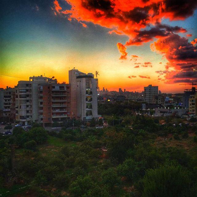 Sunset from work livelovebeirut wearelebanon lebanon livelovelebanon...