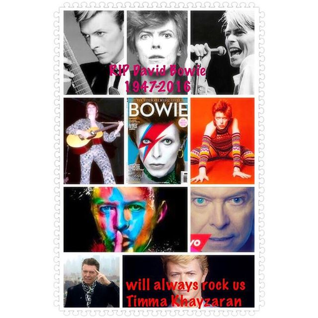 David Bowie .a legend left us with amazing music  art rock  glam rock...