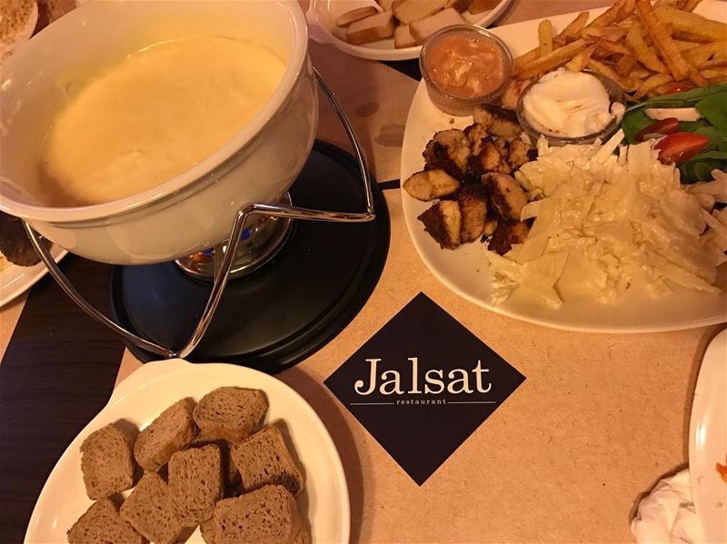Cheese fondue is the best! jalsat restaurant mayrouba faraya ...