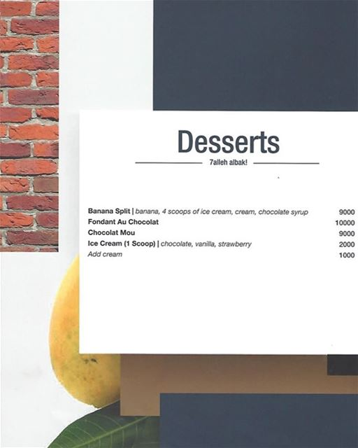 Craving for sweets? Try our selection of desserts and 7alleh albak 😍 ...