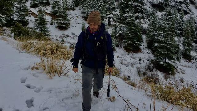 Merry xmas!..... xmas merrychristmas snow hiking snowshoeing ... (Al Shouf Cedar Nature Reserve)