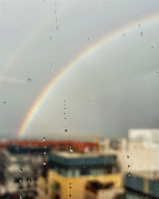 The only way to see a Rainbow is to look through the... (Downtown, Beirut, Lebanon)