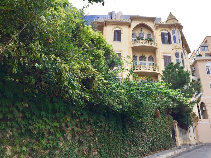 The beauty of Beirut ❤️ Beirut old houses architecture green lebanon ... (Clemenceau)