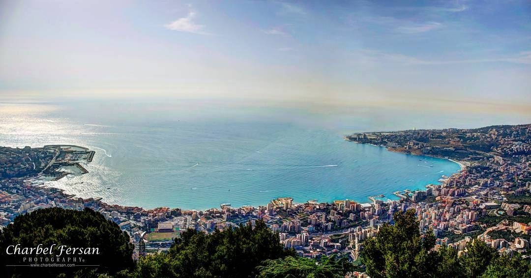 A breathtaking view 🌈 tb instashot photooftheday picoftheday ... (Jounieh Bay)