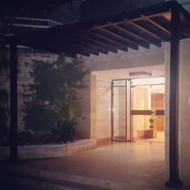 steel entrance building pergola night patio architecture design ... (Sahel Alma)